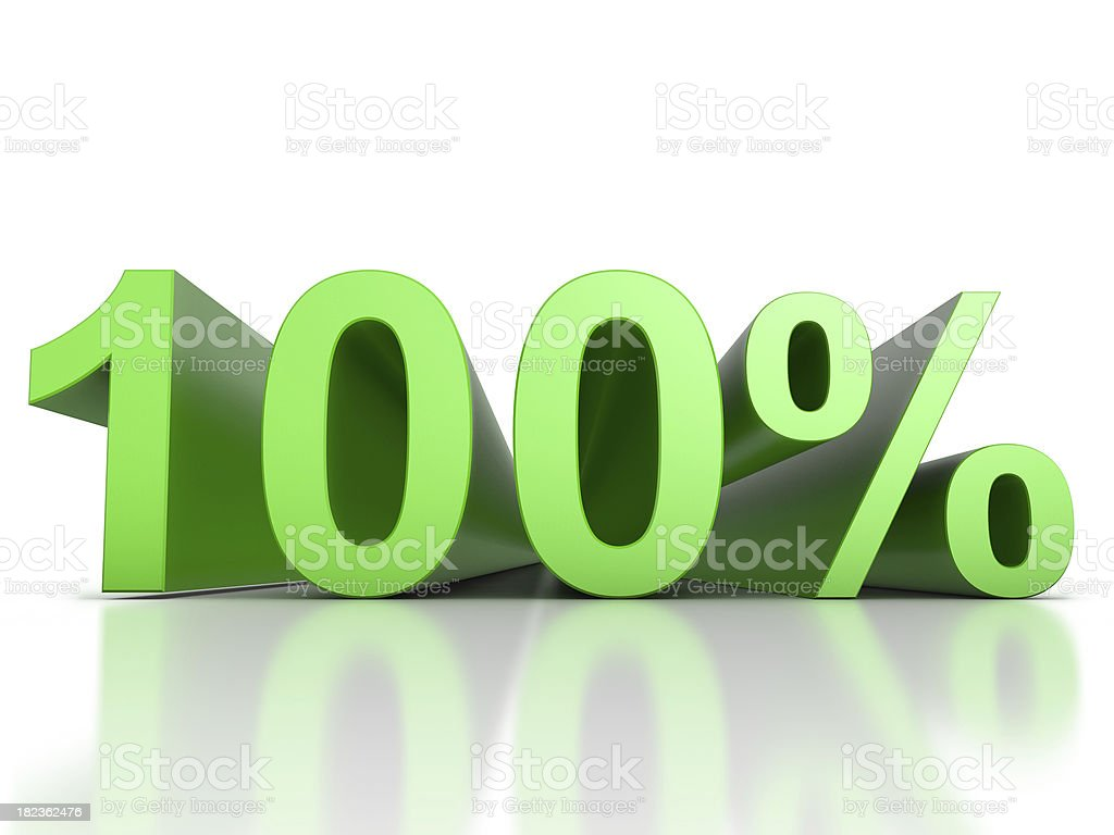 100 Percent stock photo