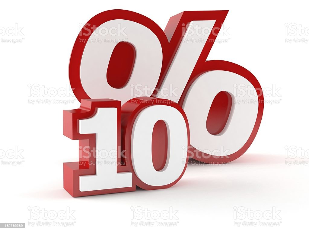 Percent royalty-free stock photo