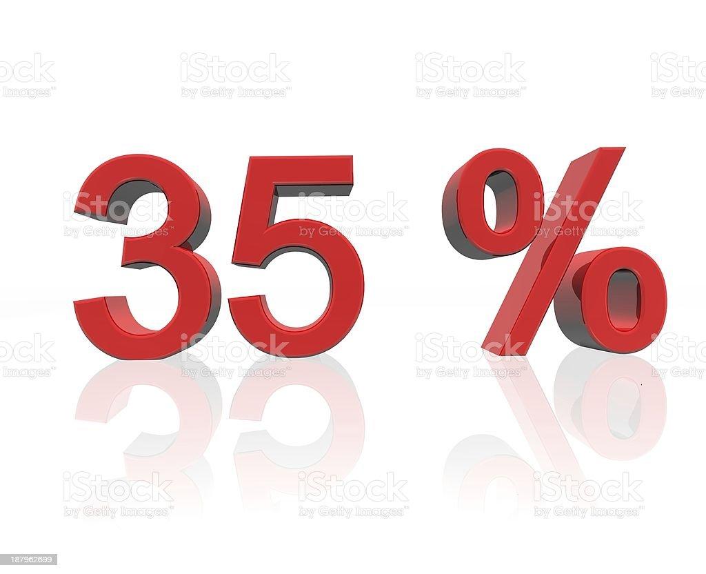 35 percent stock photo