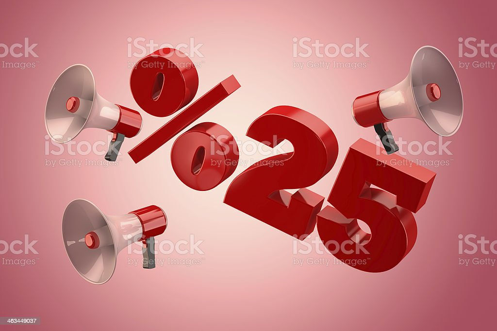 25 Percent stock photo