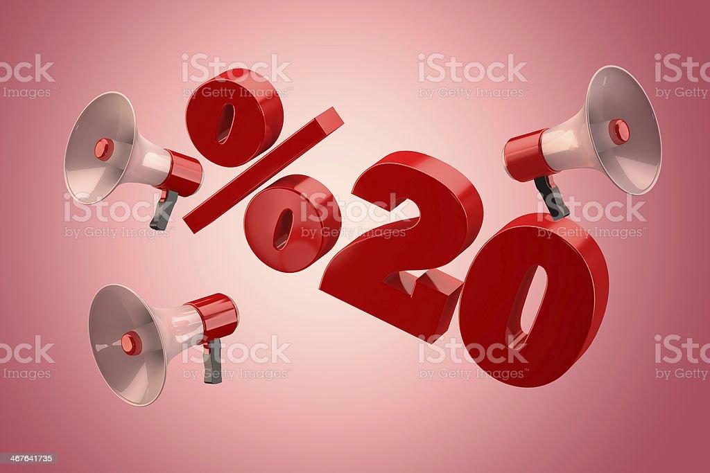 20 Percent stock photo