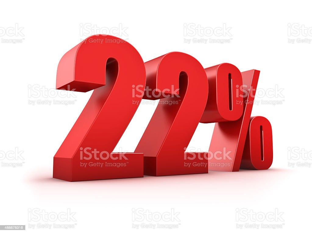 22 percent stock photo