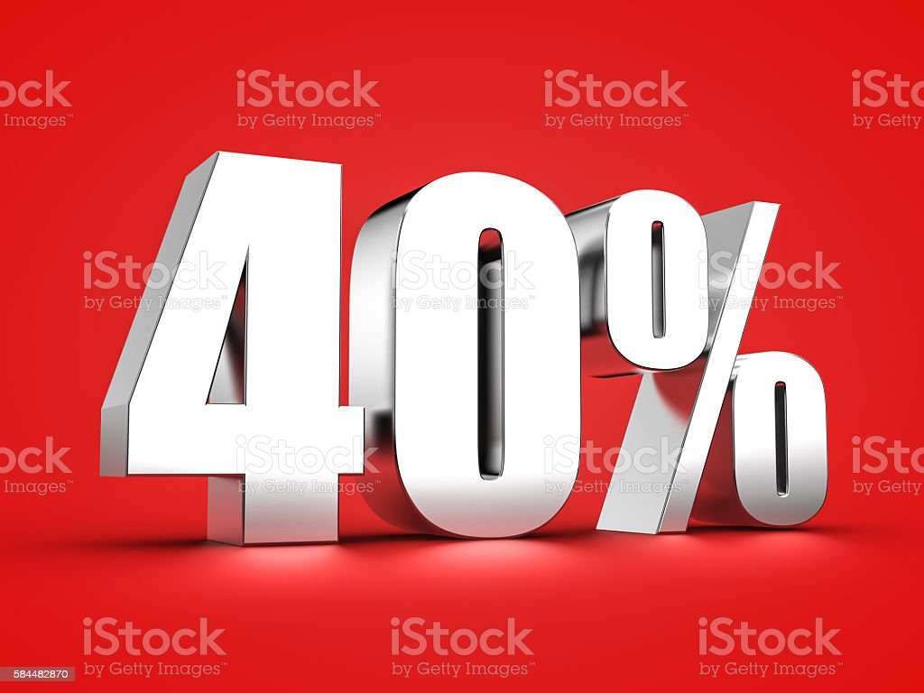 40 percent stock photo