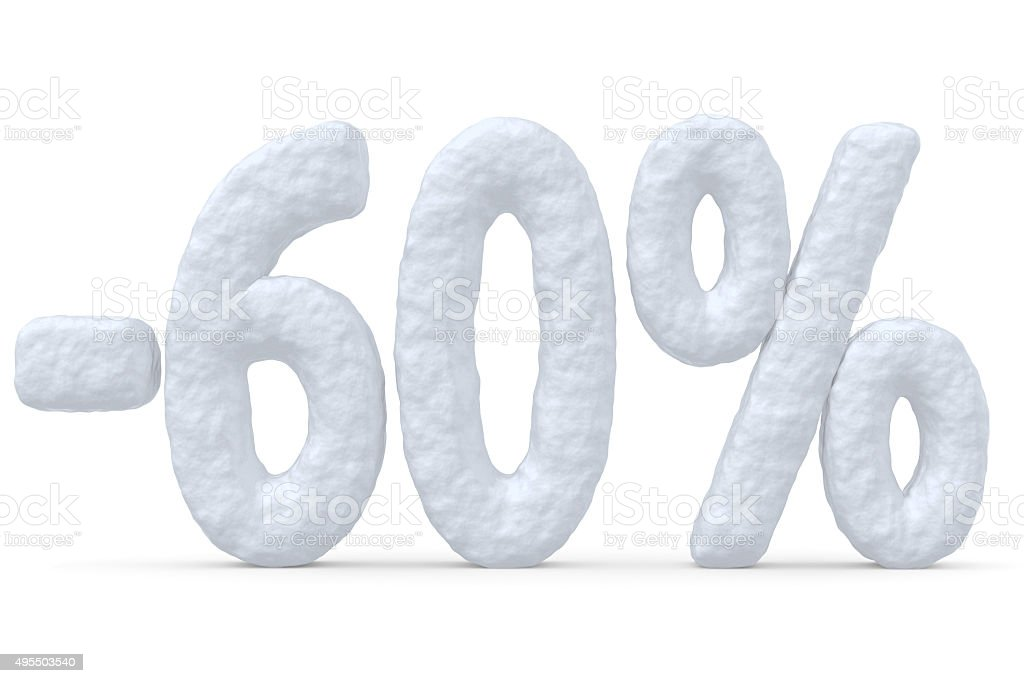 60 percent price cut off christmas offer stock photo