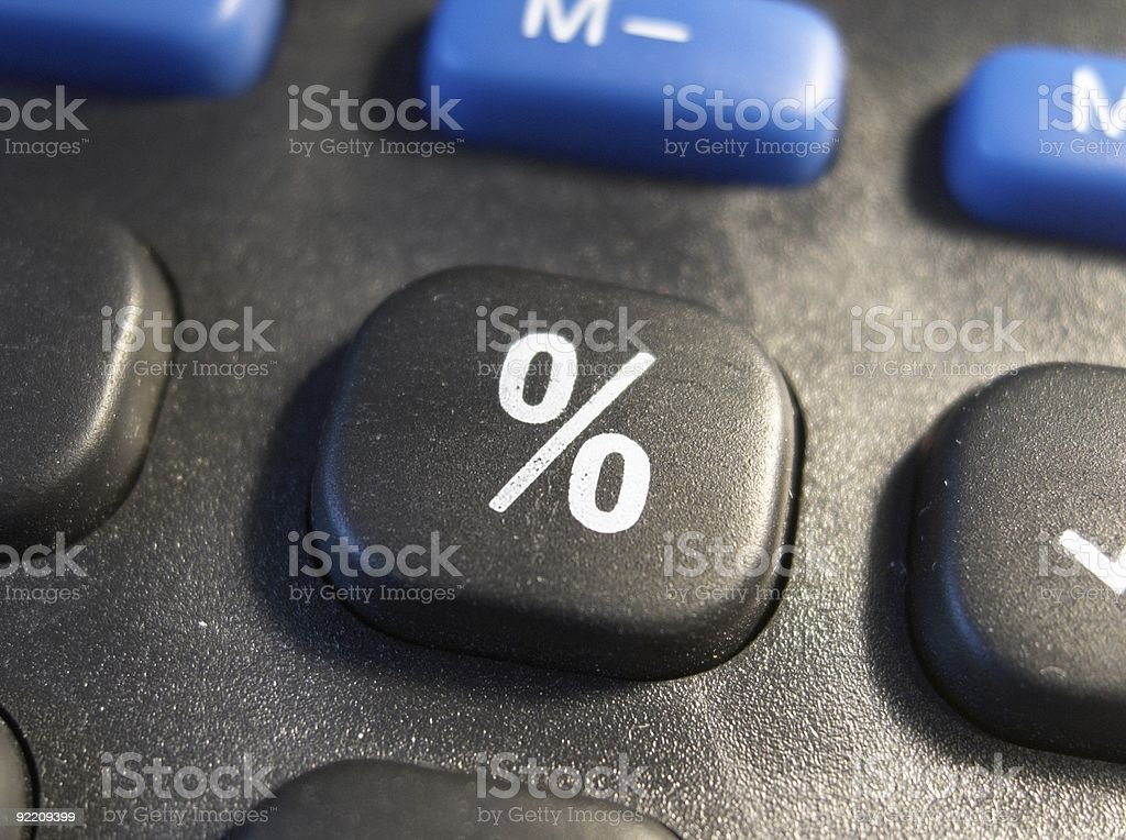 Percent sign stock photo