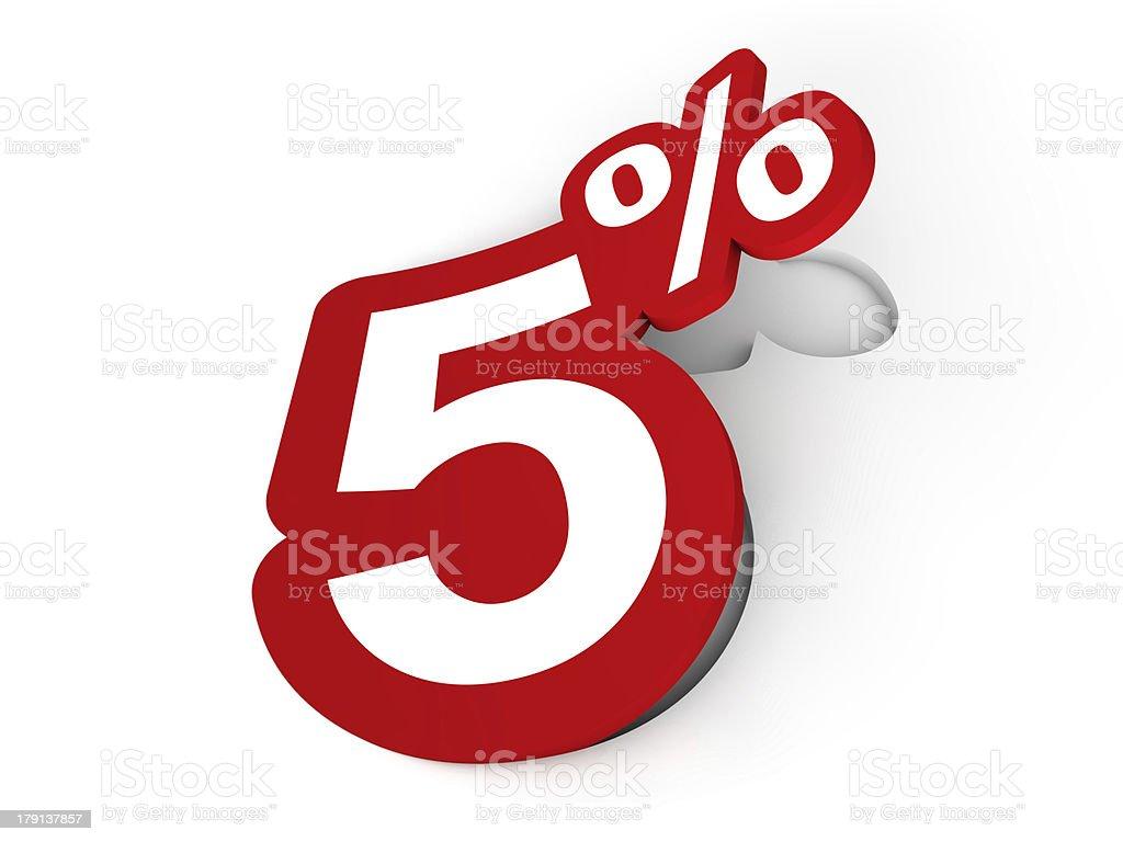 Percent sticker royalty-free stock photo