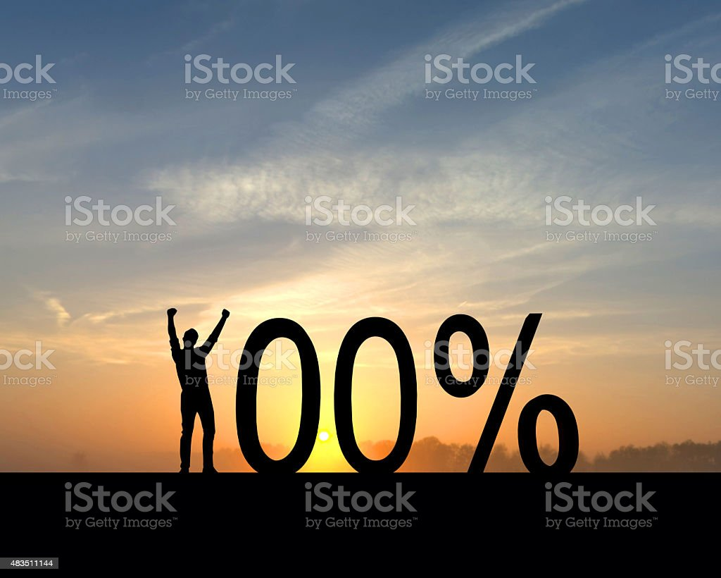 100 percent successful stock photo