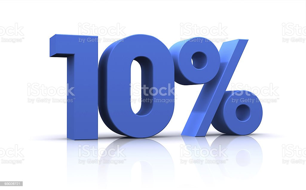percentage, 10% stock photo