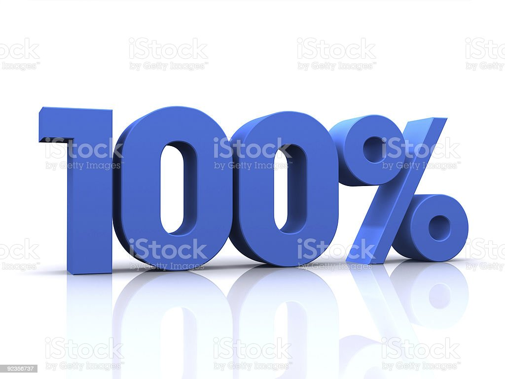 percentage, 100% stock photo