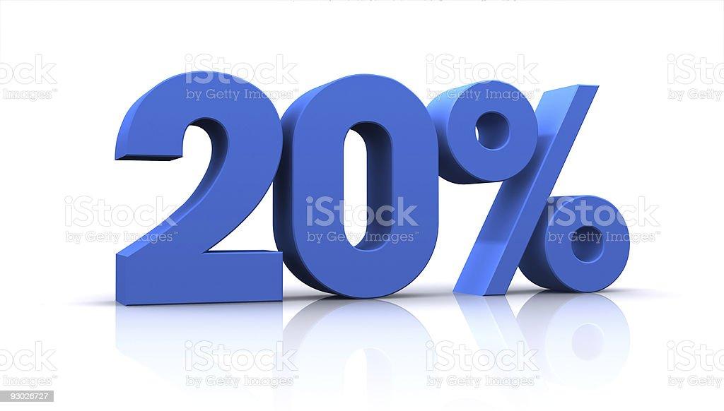 percentage, 20% royalty-free stock photo