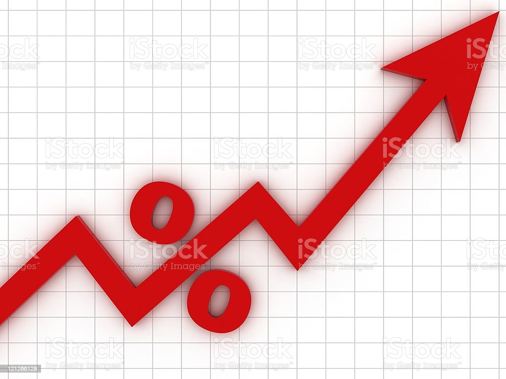 Percentage Chart stock photo