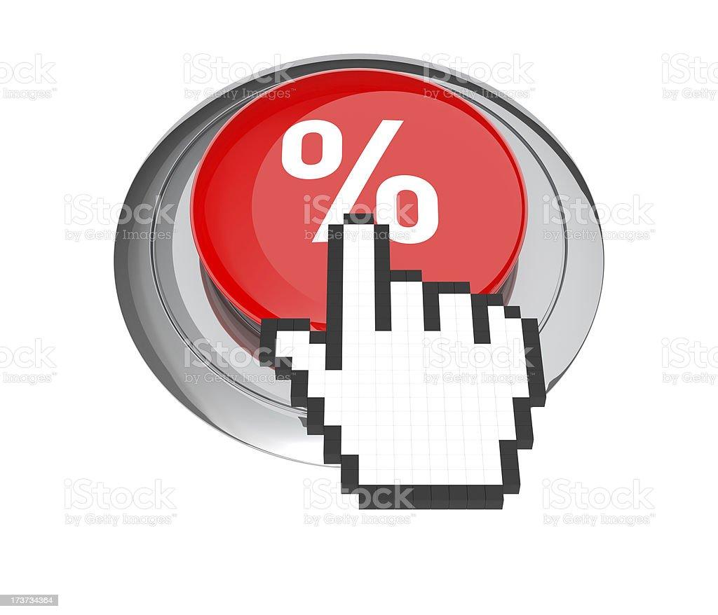 Percentage Icon Button royalty-free stock photo