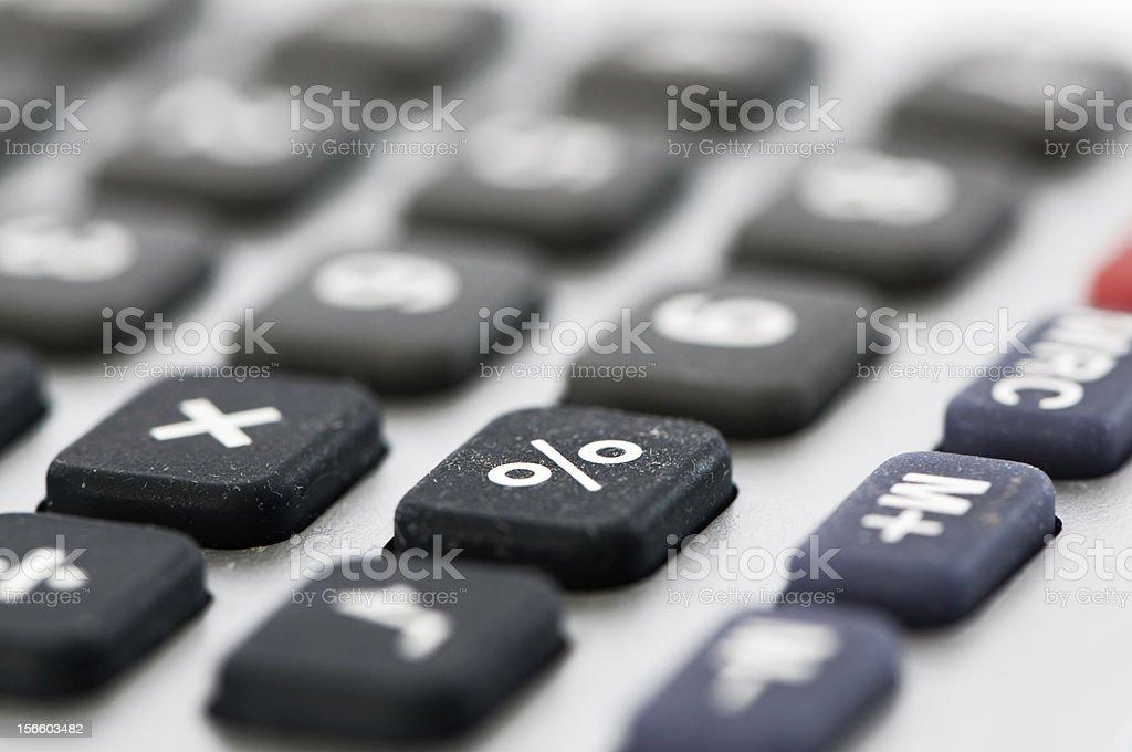 Percentage key stock photo