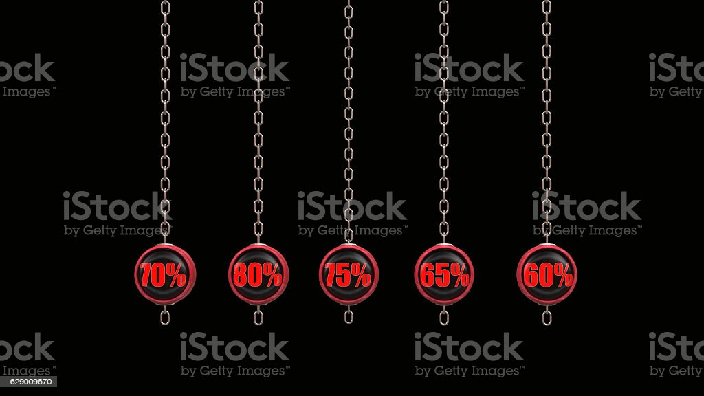 Percentage Numbers Series  3d rendering stock photo