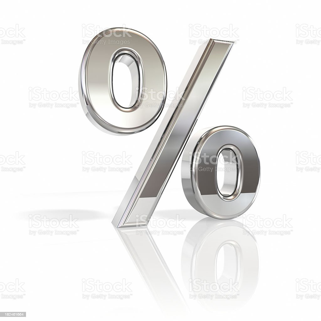 Percentage stock photo