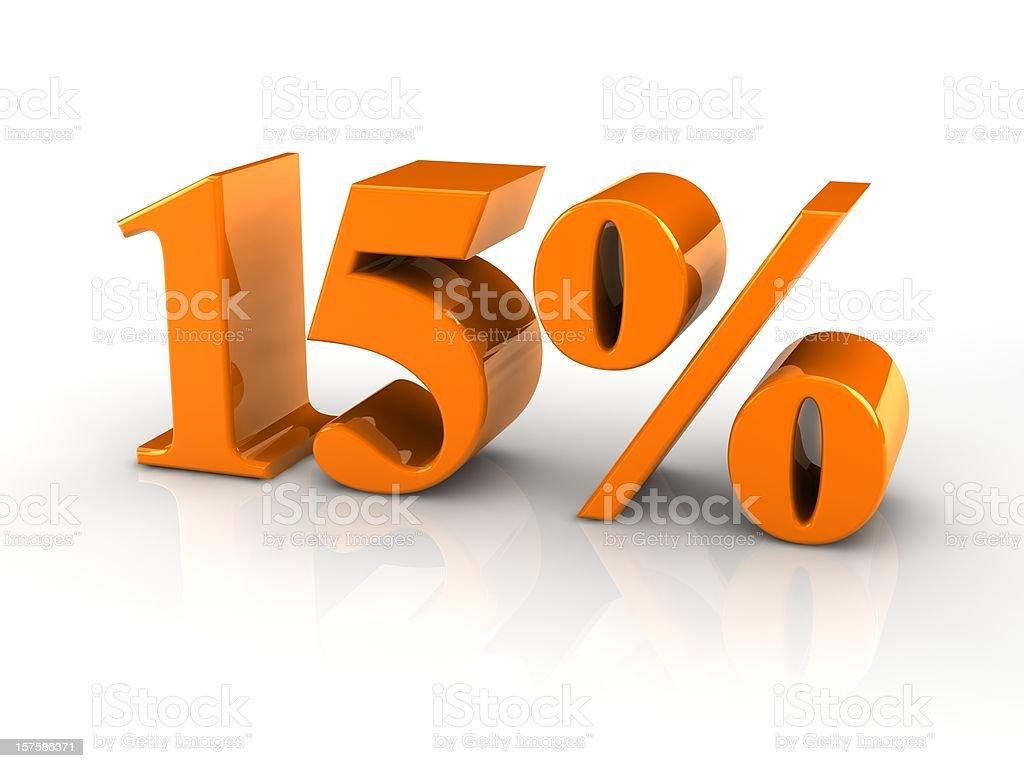 percentage sign 15% royalty-free stock photo