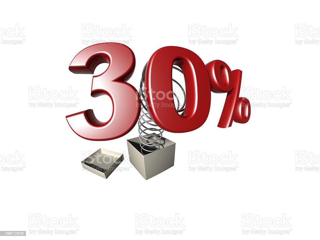 percentage sign royalty-free stock photo