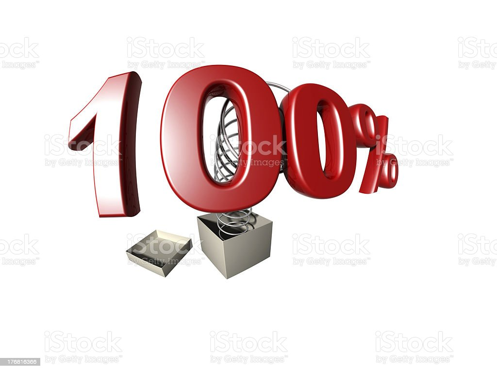 percentage sign royalty-free stock photo