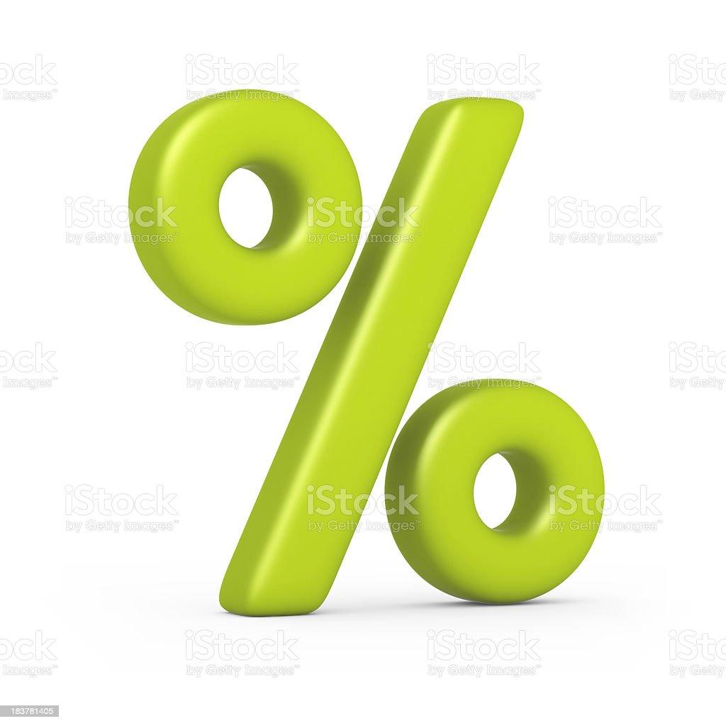 percentage sign stock photo