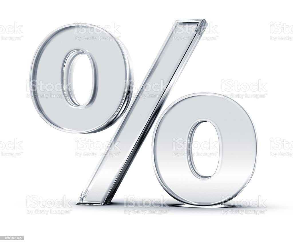 Percentage Symbol stock photo