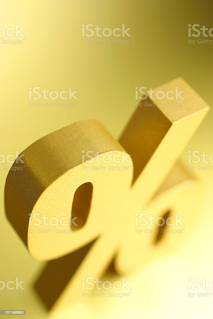 Percentage Symbol royalty-free stock photo