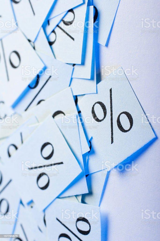 Percentage symbol stock photo