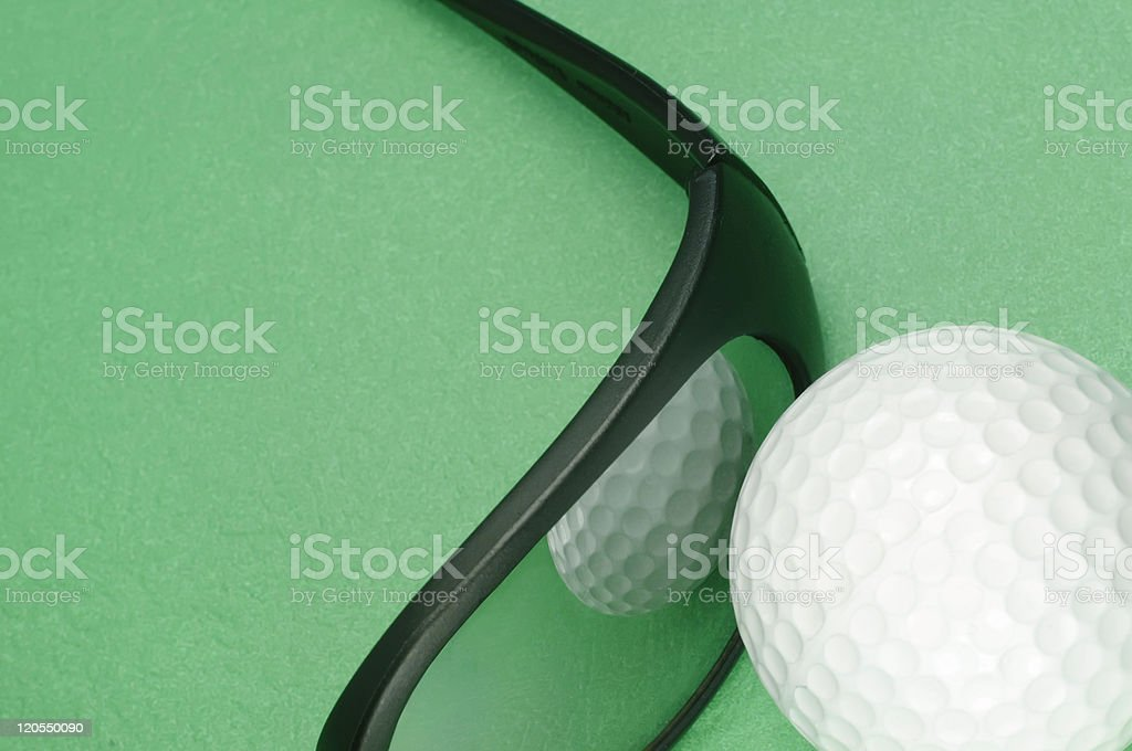 Perception and golf royalty-free stock photo