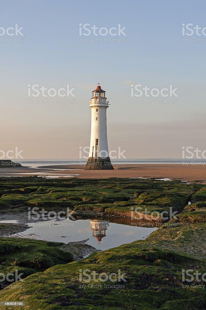 Perch Rock Lighthouse, New Brighton, Merseyside, England stock photo