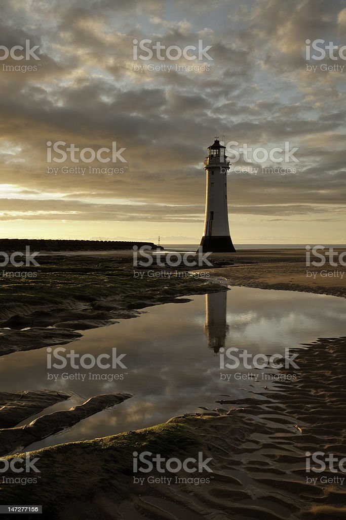 Perch Rock Lighthouse, New Brighton, UK stock photo