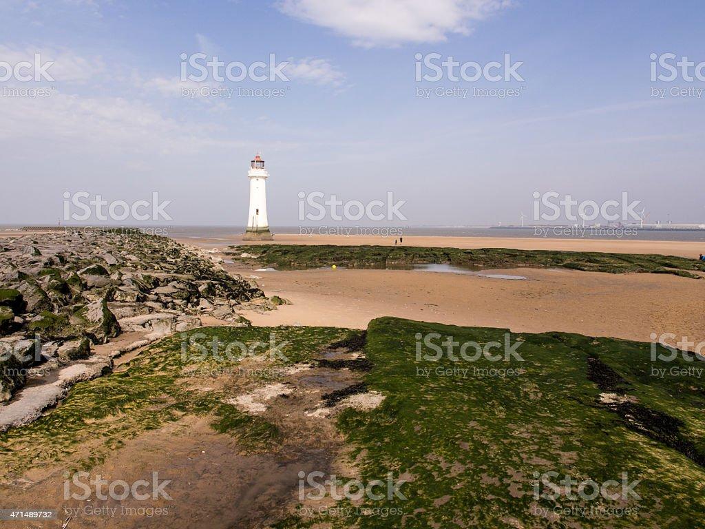 Perch Rock Lighthouse stock photo