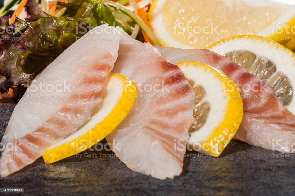 Perch slices royalty-free stock photo
