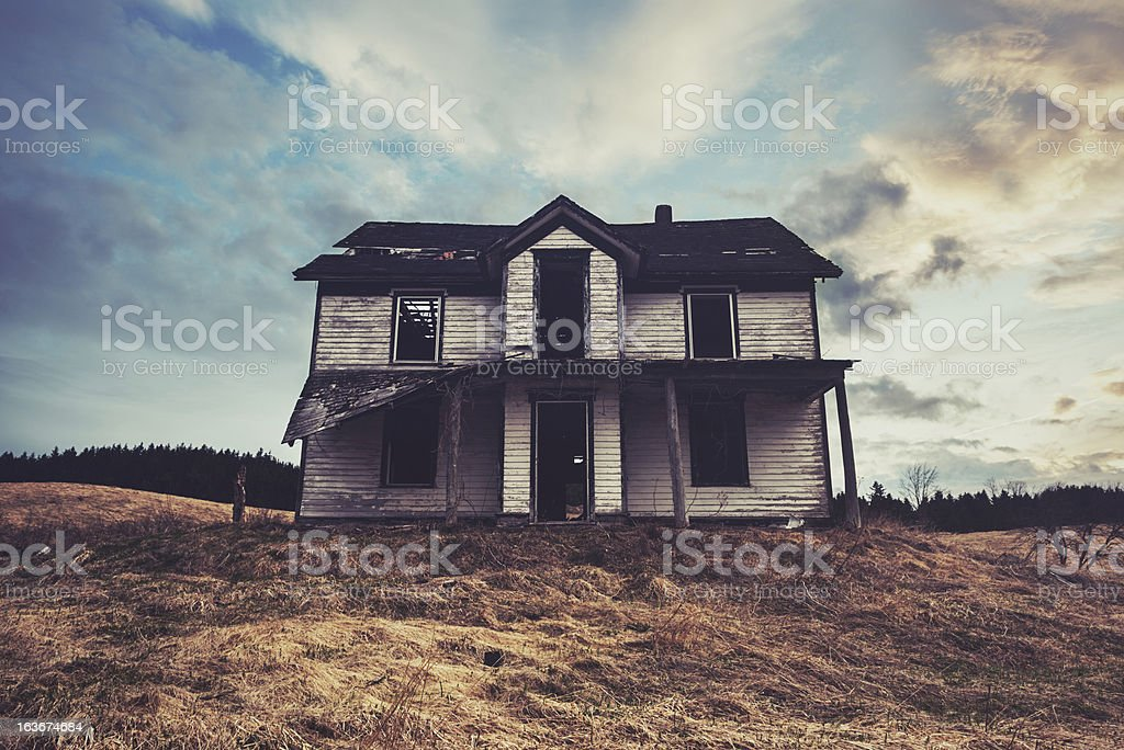 Perched on the Hill royalty-free stock photo
