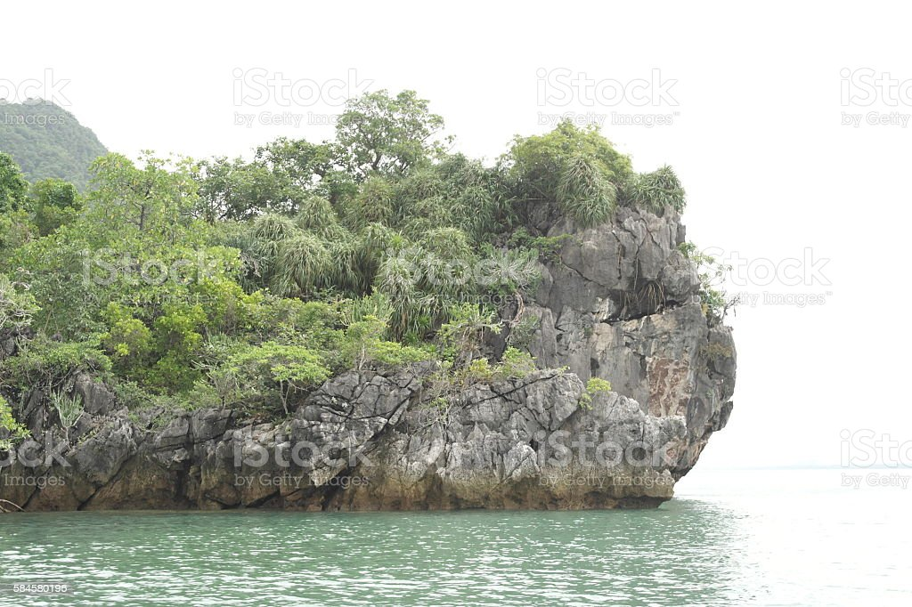 Perched on the Phang Nga province in Thailand. stock photo