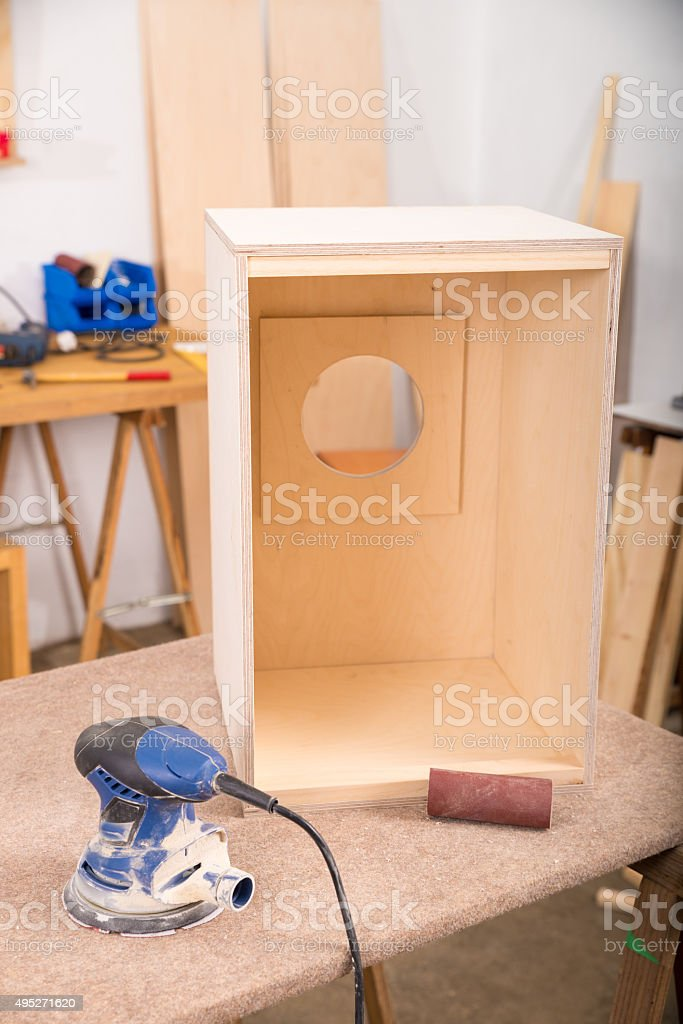 Percussion instrument in workshop stock photo