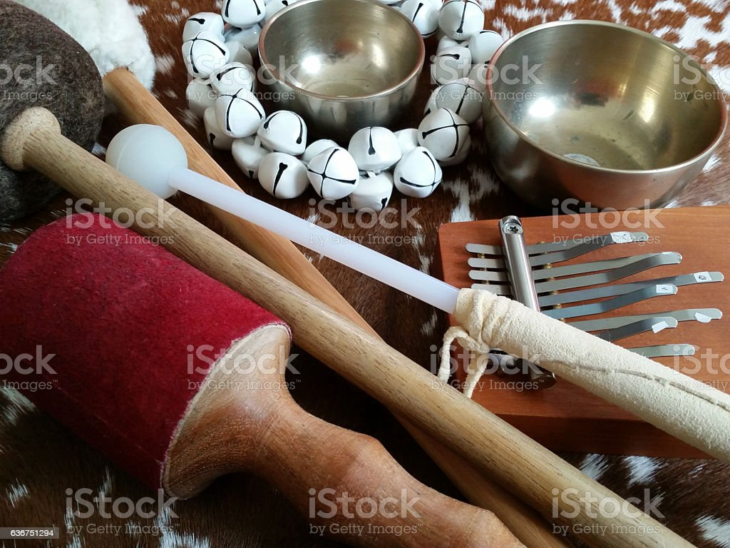 Percussion instuments stock photo