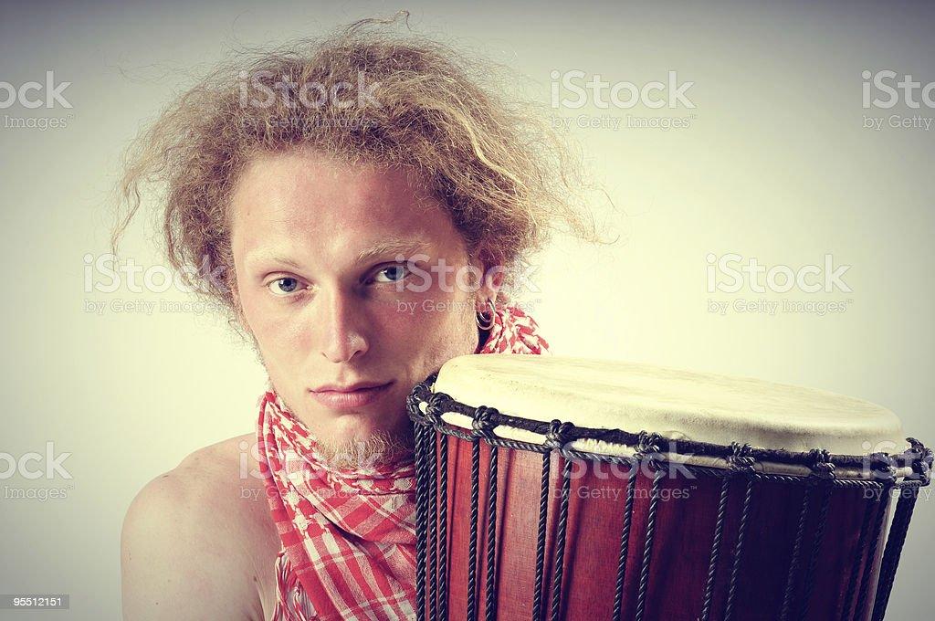 Percussion man royalty-free stock photo