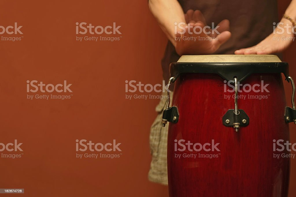 Percussion Player (Motion Blur) royalty-free stock photo