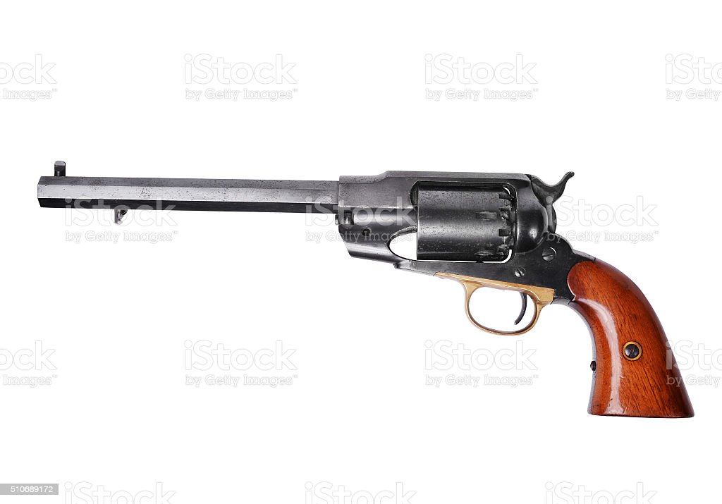 Percussion revolver stock photo