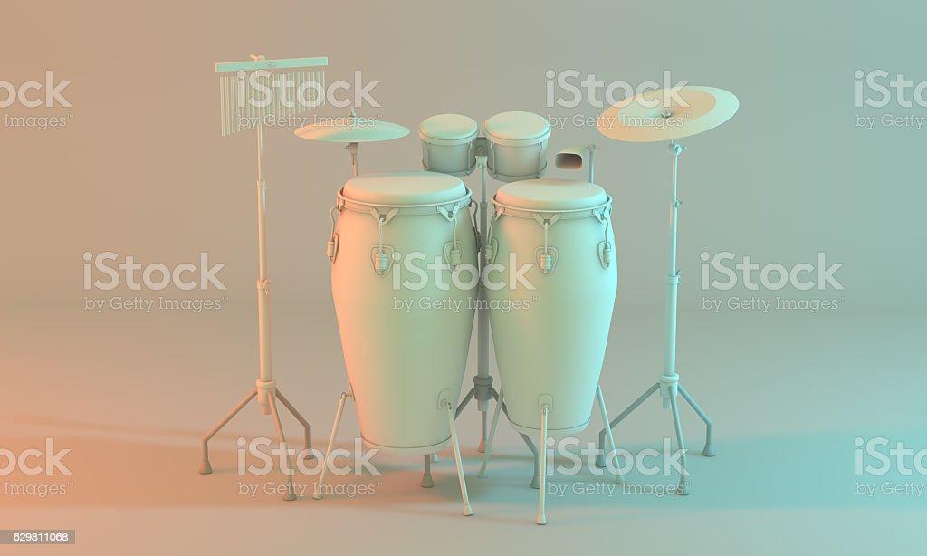 Percussion set stock photo