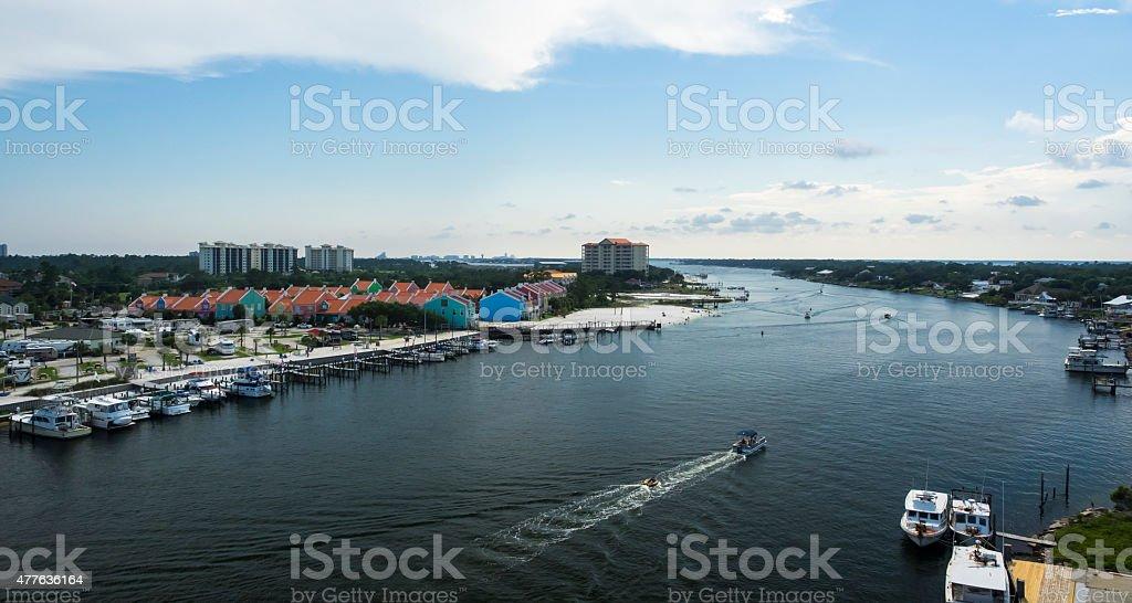 Perdido Key Waterway stock photo