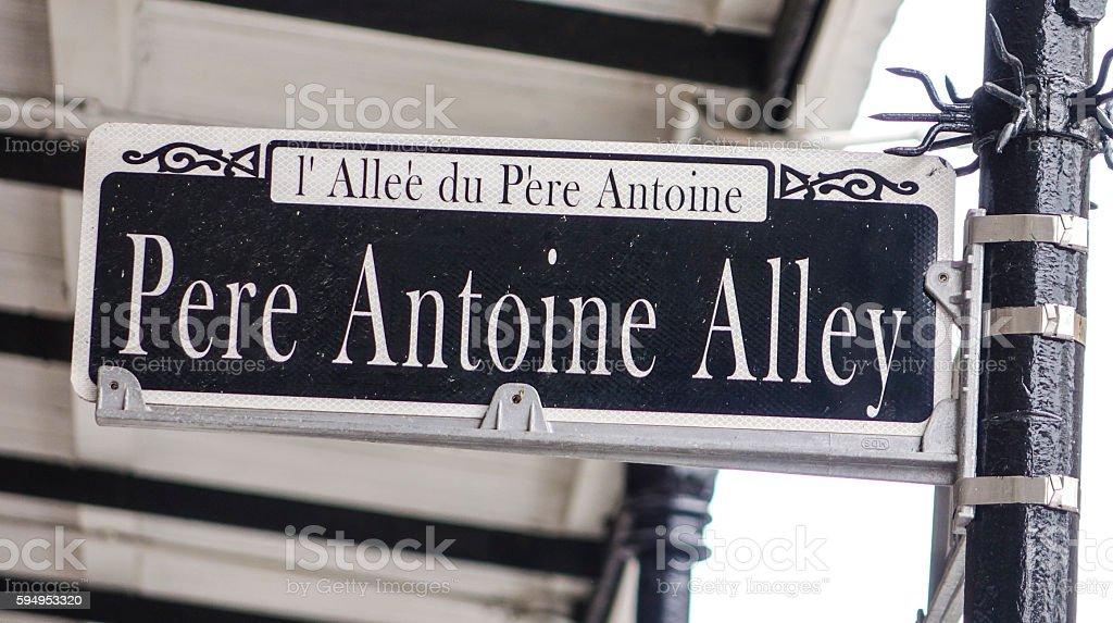 Pere Antoine Alley in New Orleans French Quarter -  , LOUISIANA Lizenzfreies stock-foto