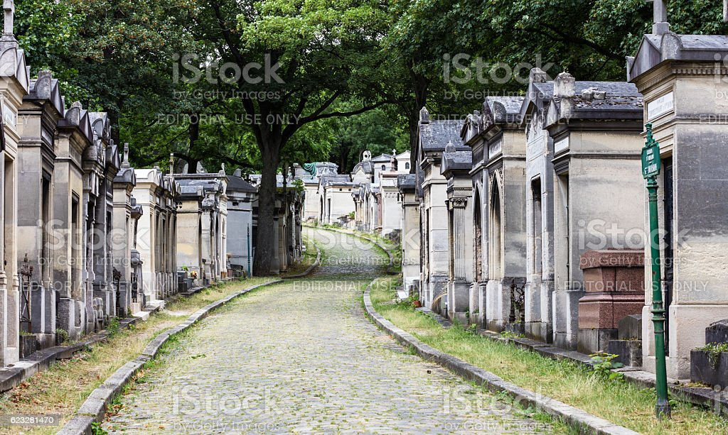 Pere Lachaise cemetery. Paris, France royalty-free stock photo