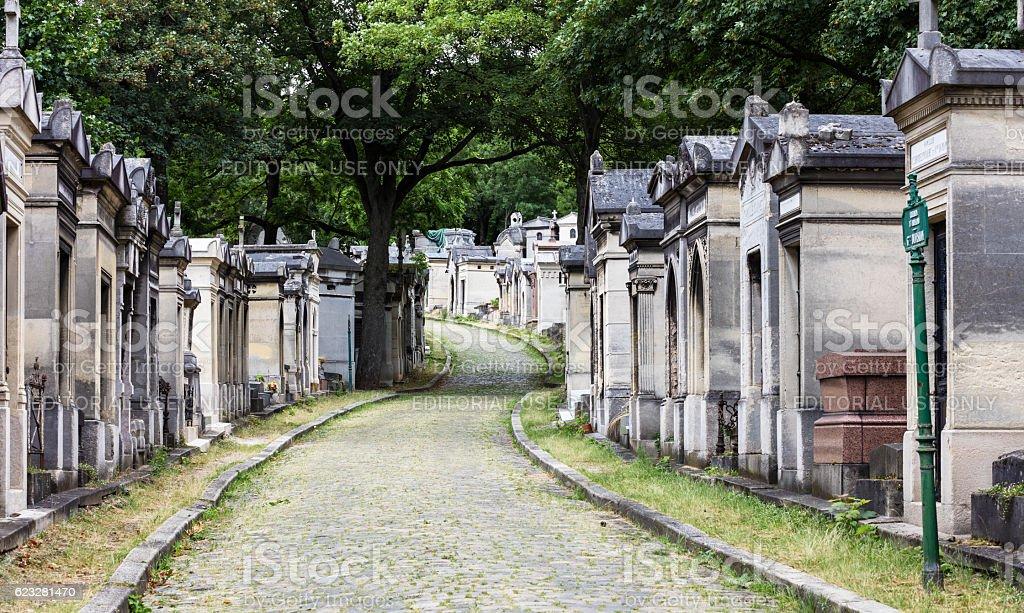 Pere Lachaise cemetery. Paris, France stock photo