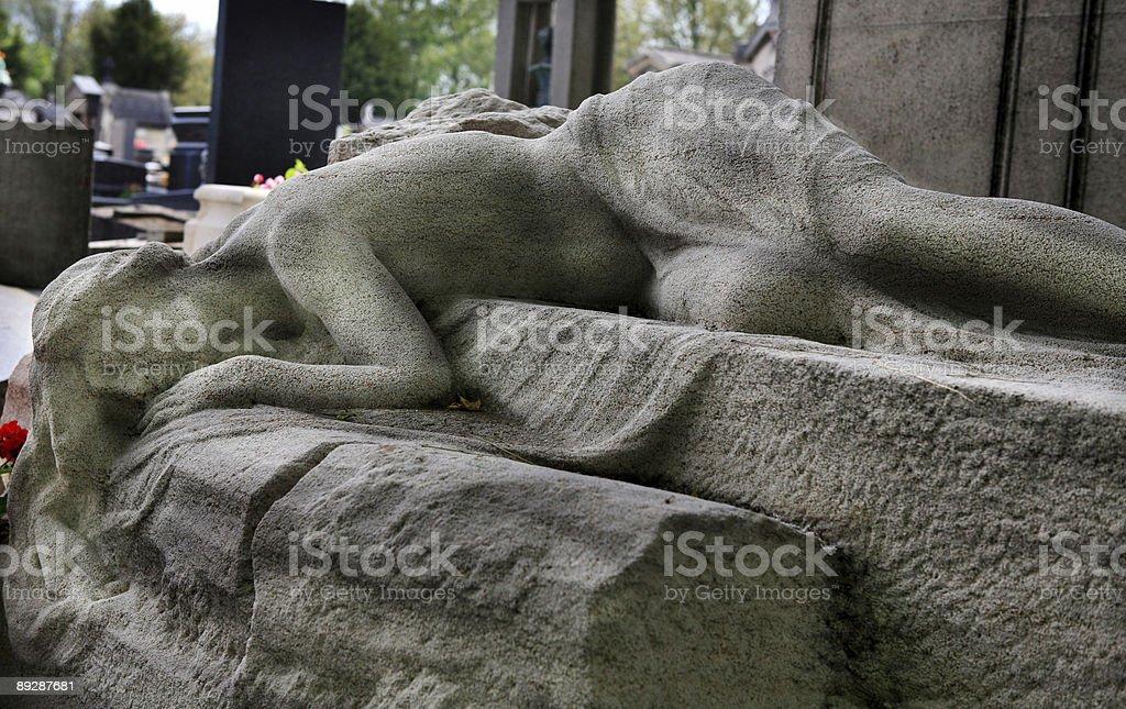 Pere Lachaise Cemetery, Paris, France stock photo