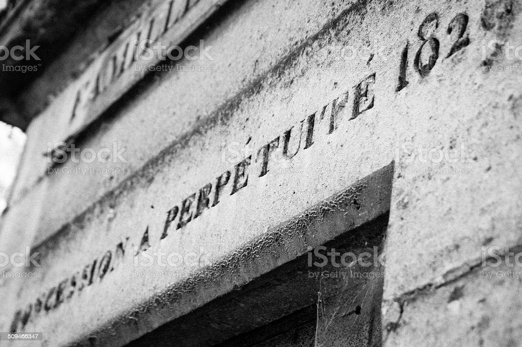 Pere Lachaise Cemetery stock photo