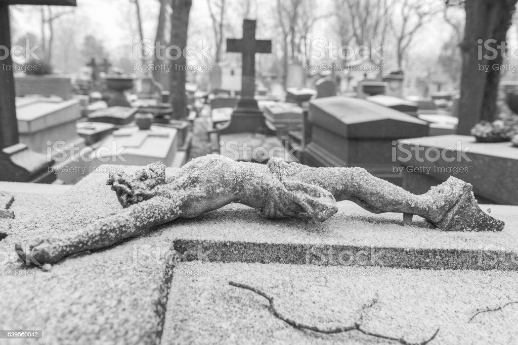 Pere-Lachaise cemetery in Paris stock photo