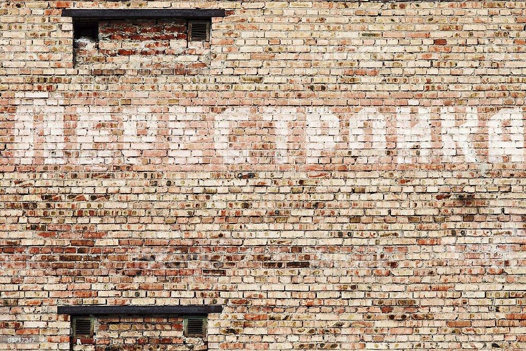Perestroika text on a wall stock photo