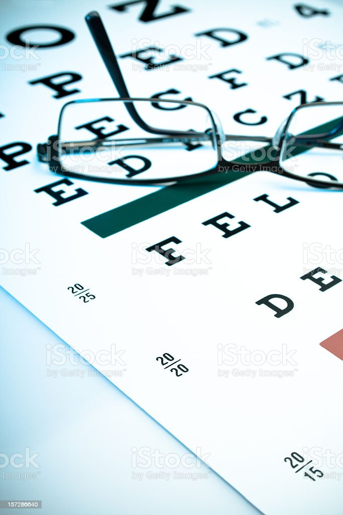 Perfect 20/20 eyesight royalty-free stock photo
