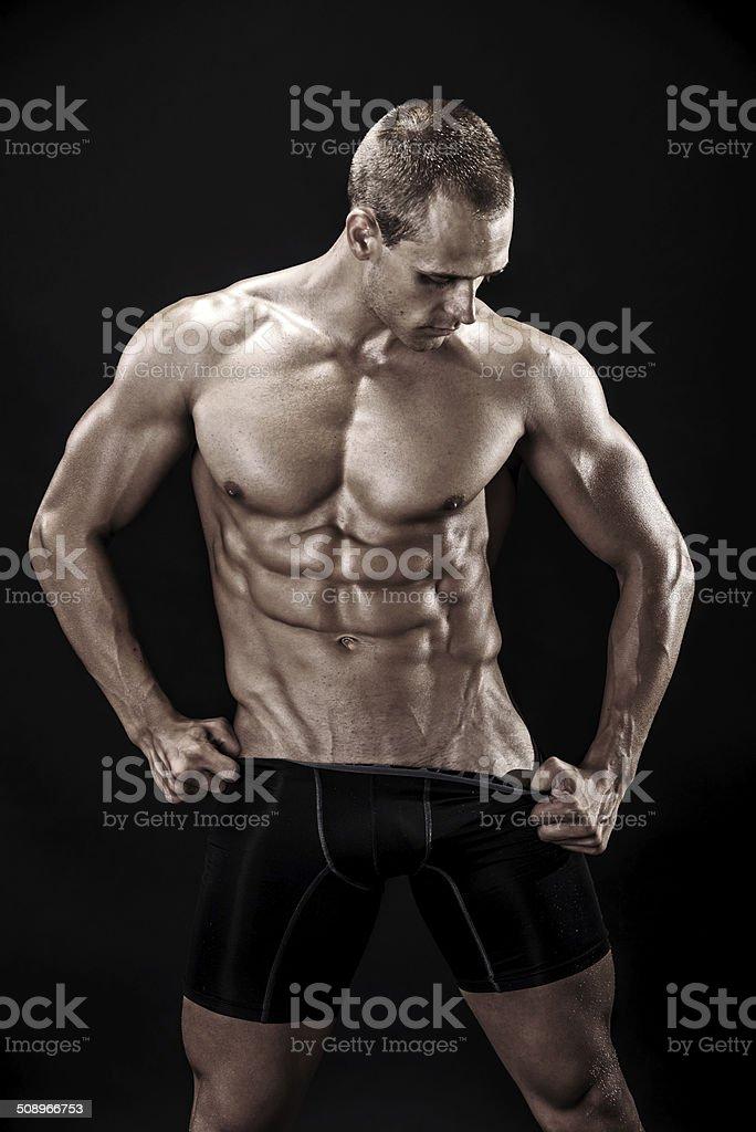 Perfect abdominals stock photo