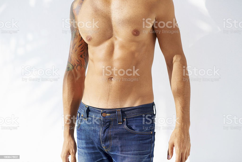 Perfect abs royalty-free stock photo